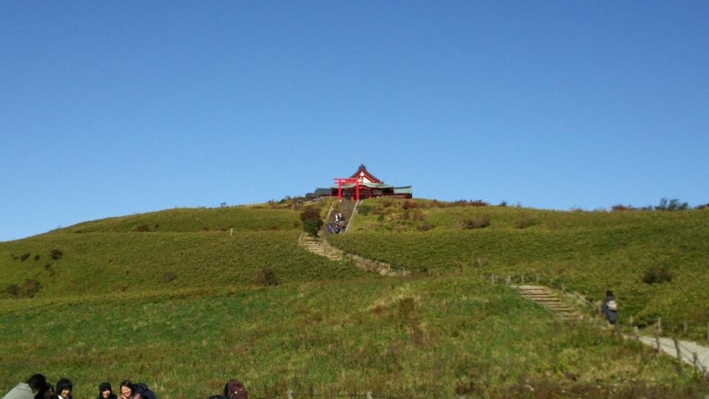 快晴の駒ヶ岳山頂
