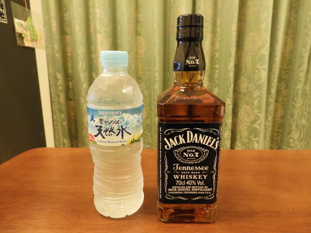 ジャックダニエルと南アルプスの天然水