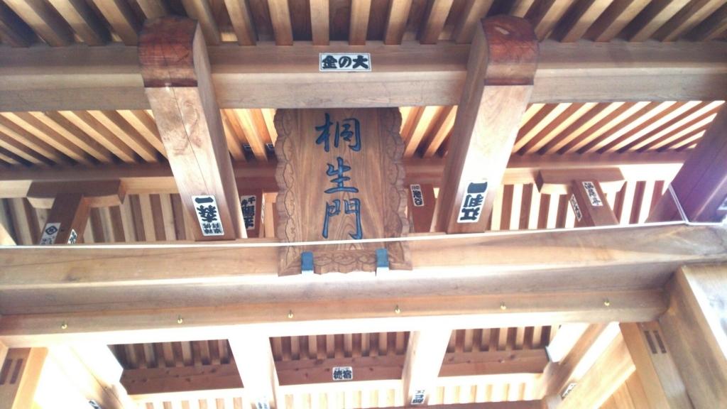 「桐生門」の額