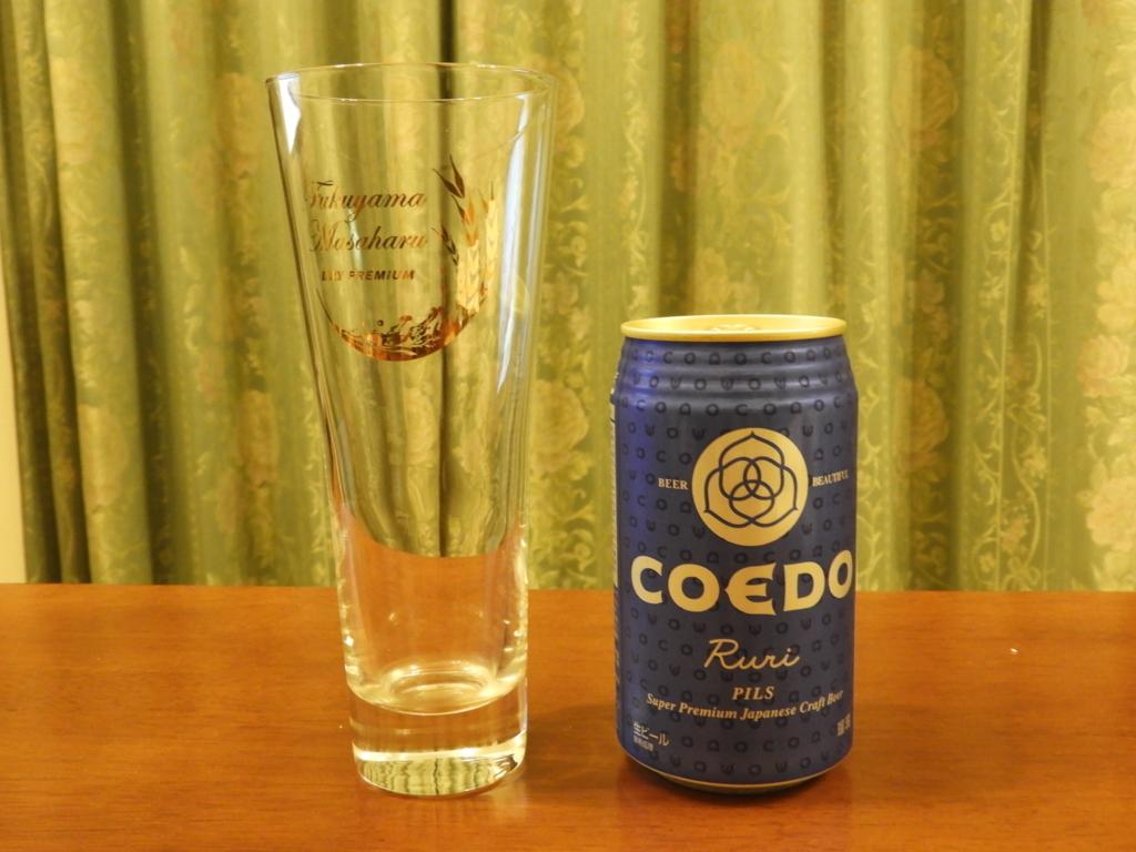 COEDO 瑠璃 -Ruri-とグラス