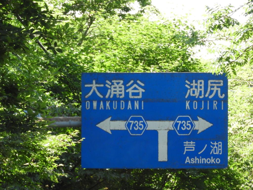 三叉路の標識