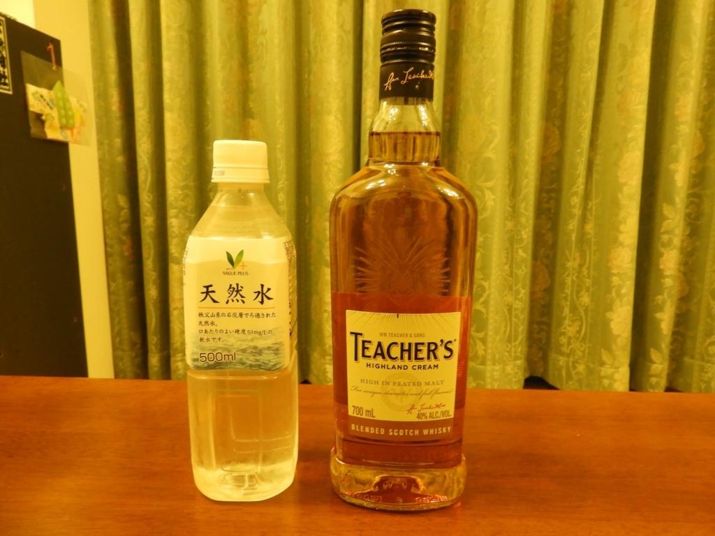 ティーチャーズと秩父山系の天然水