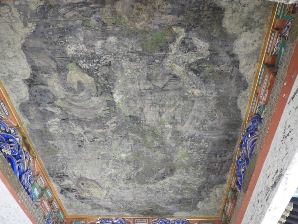 天井に描かれた龍の絵