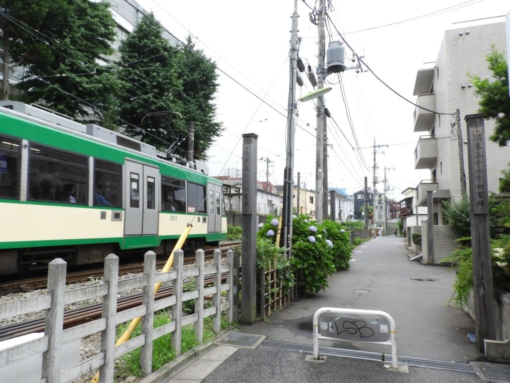 参道と世田谷線