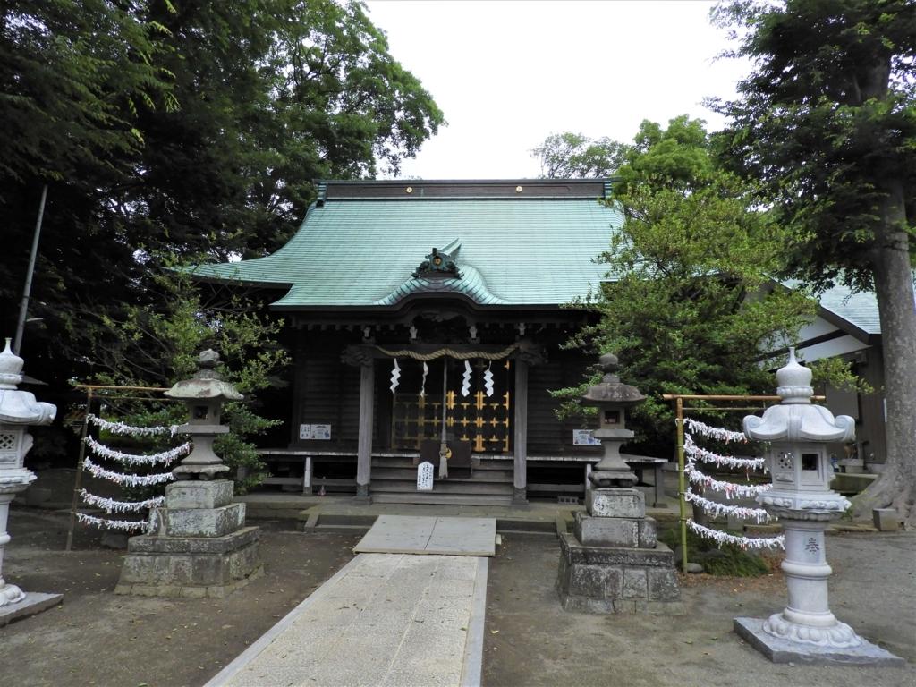 有鹿神社の拝殿