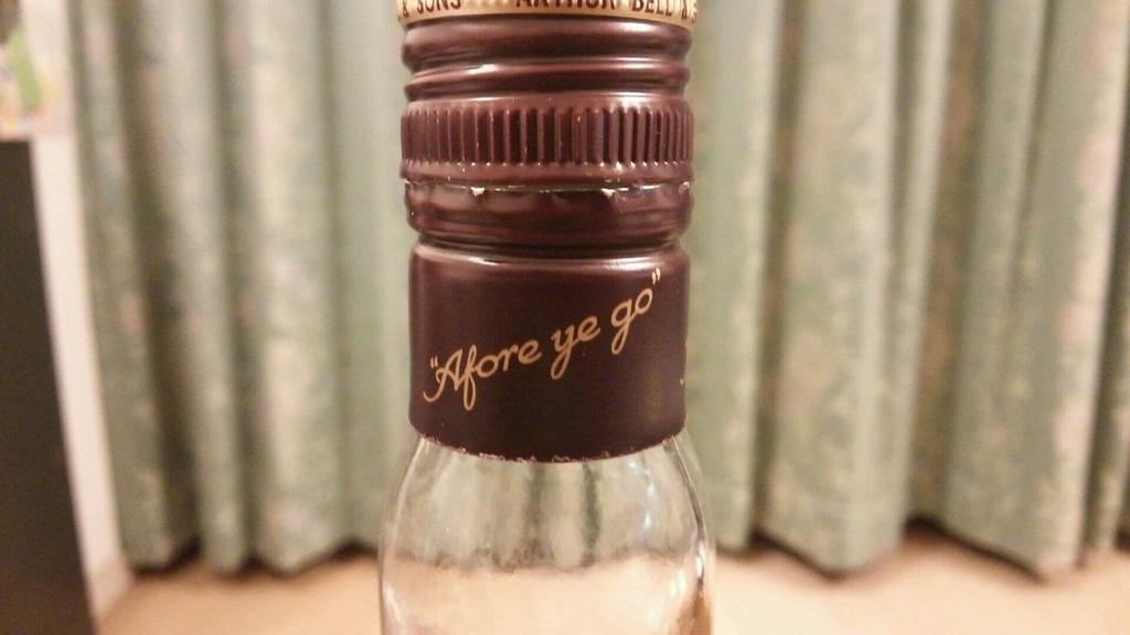 ネックラベルに記された「Afore ye go」