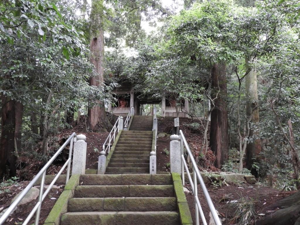 上り階段の上にある仁王門