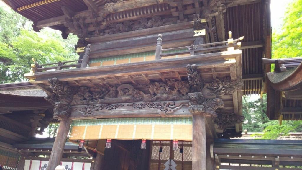 下社春宮の彫刻