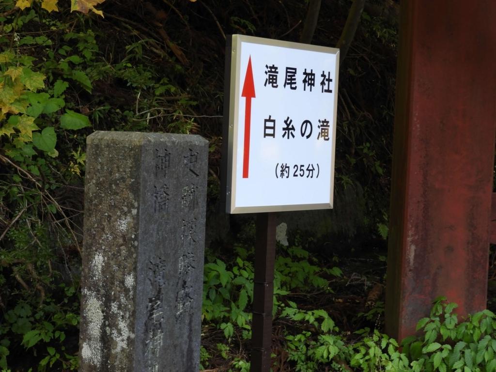 滝尾神社までの道案内