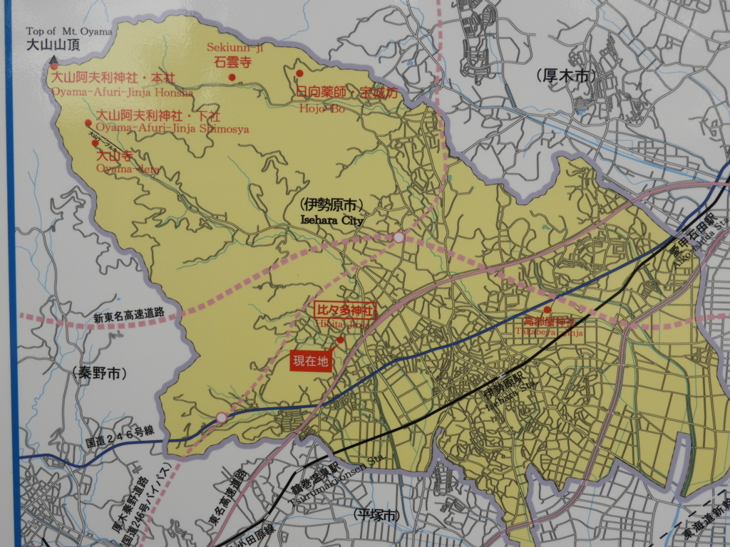日本遺産の街の地図