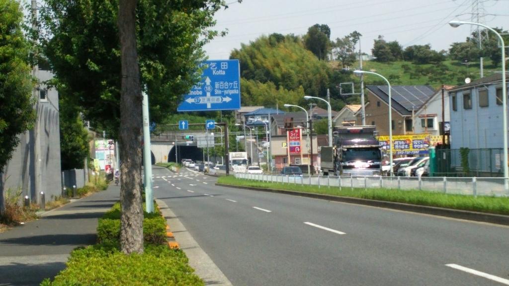 鎌倉街道と芝溝街道が交差する新袋橋交差点
