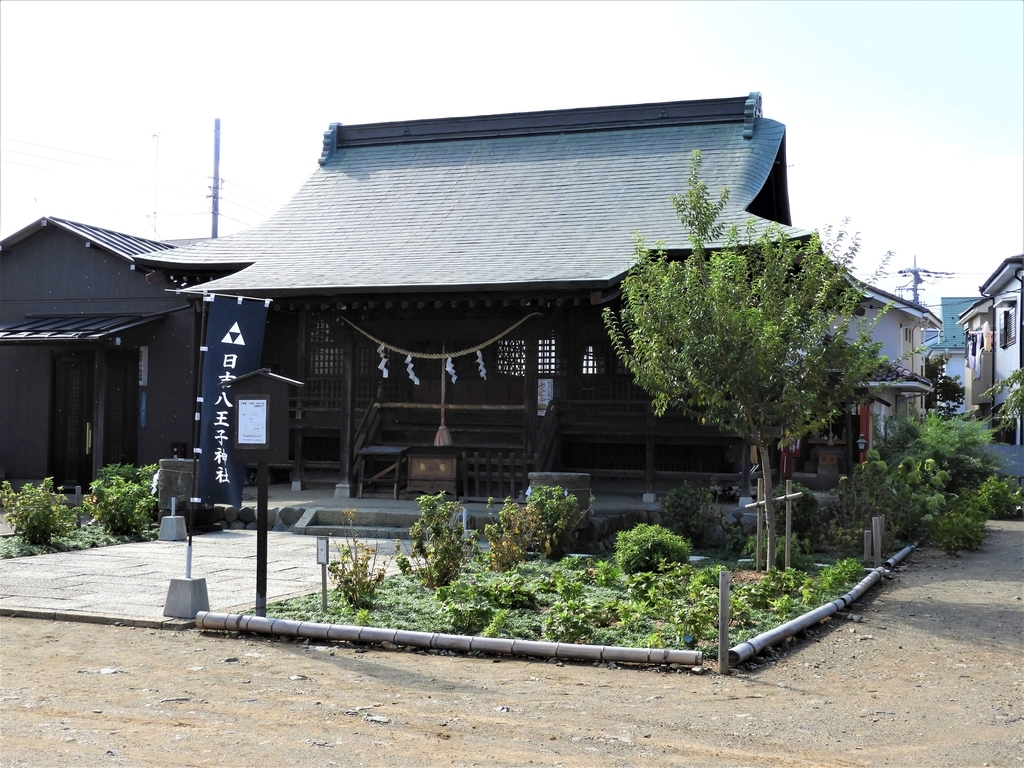 日吉八王子神社の拝殿