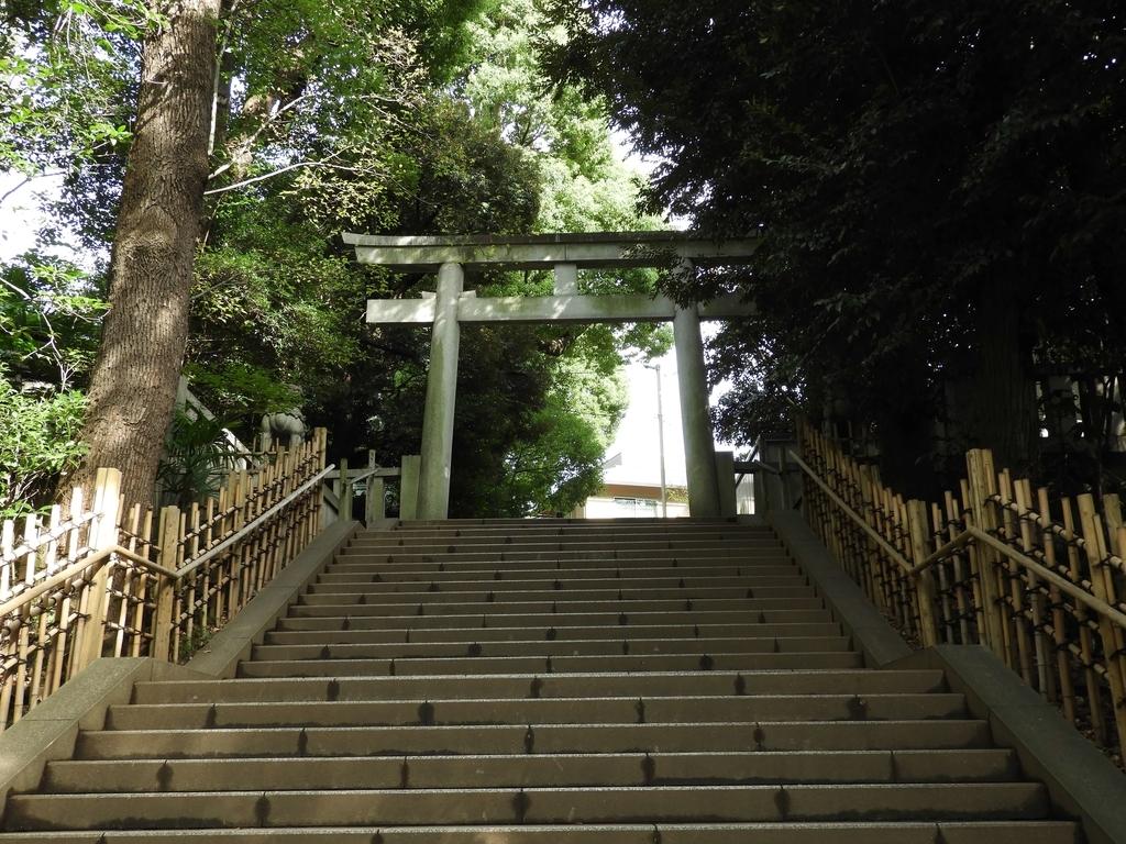 渋谷氷川神社の二之鳥居