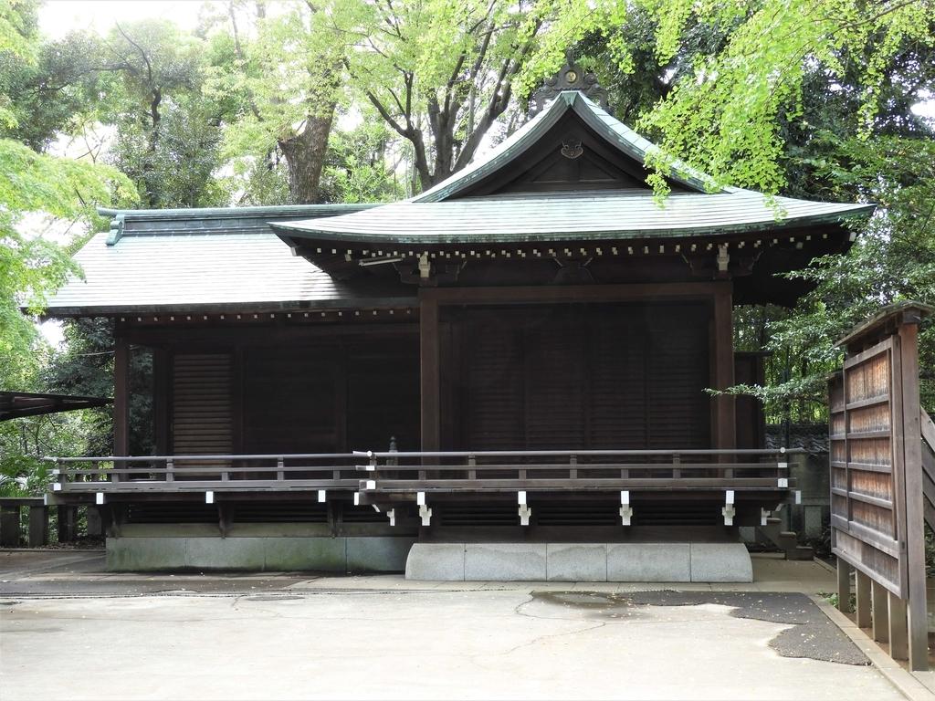 渋谷氷川神社の神楽殿