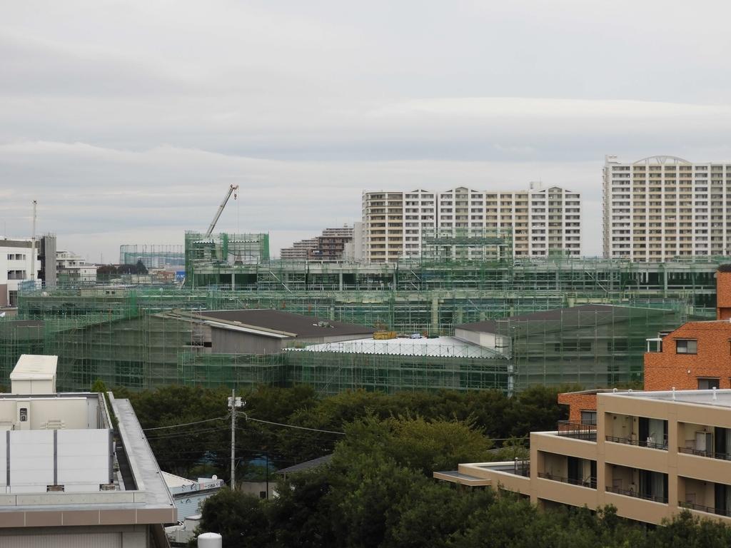前回の工事の全景写真