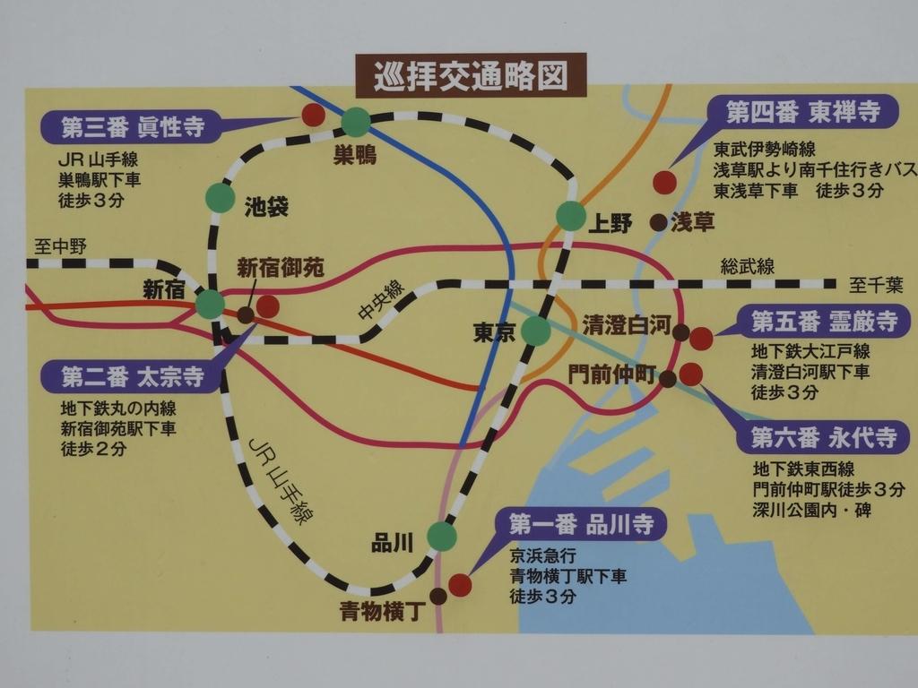 巡拝交通略図
