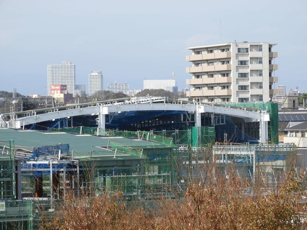 駅全体を覆うドーム