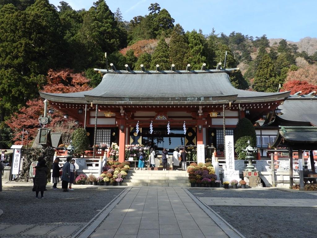 大山阿夫利神社の拝殿