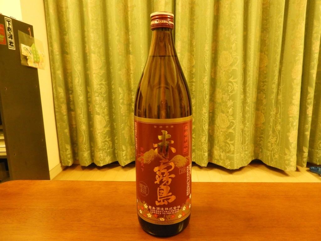 赤霧島のボトル
