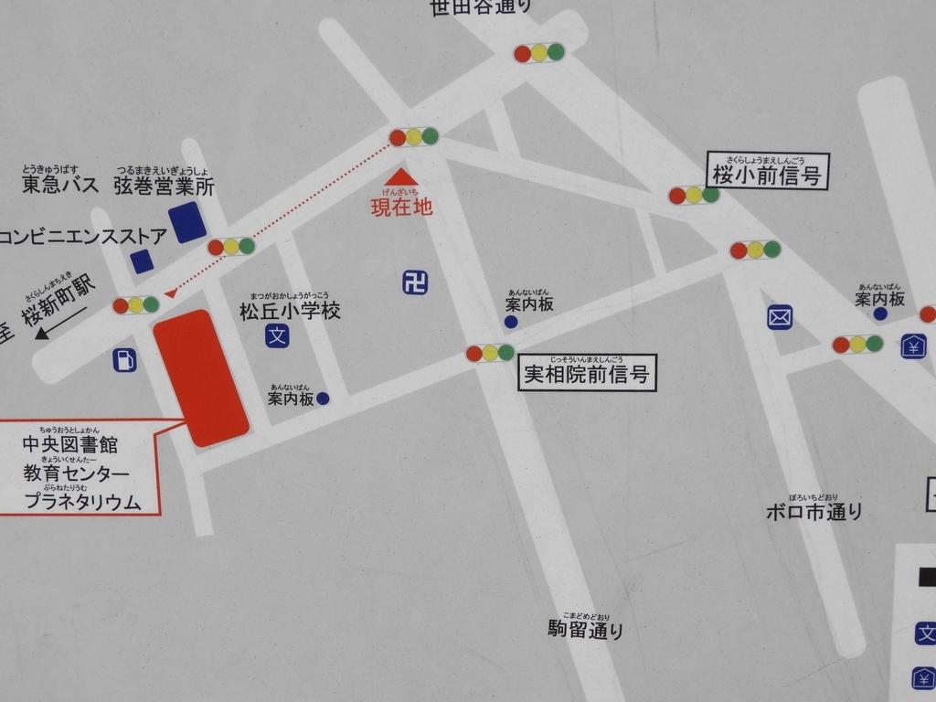 ボロ市通りの地図
