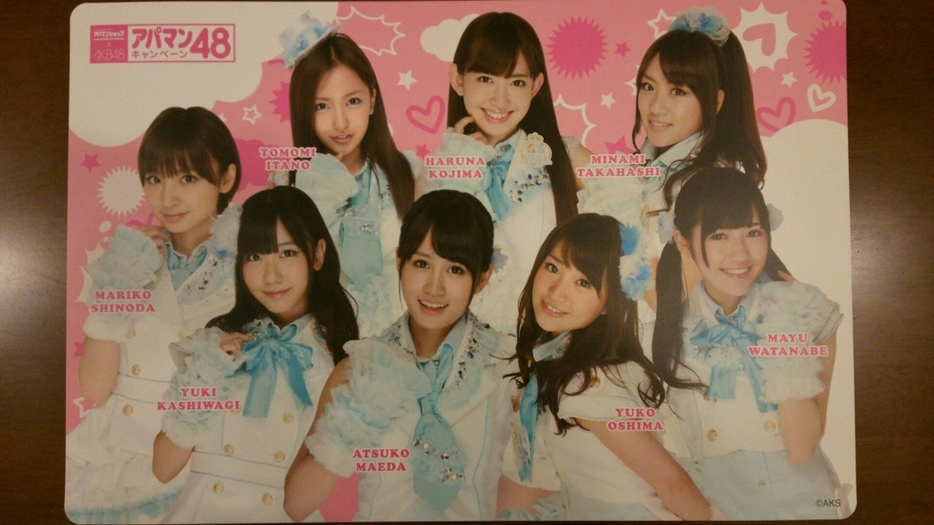 AKB48を利用した景品