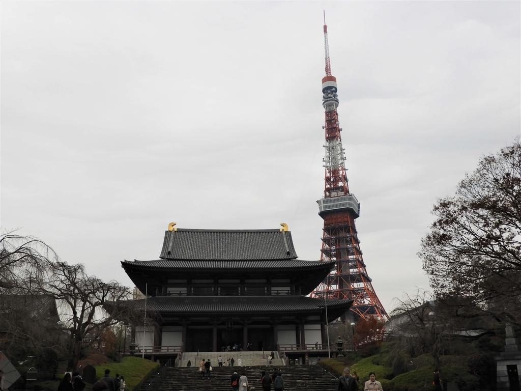 大殿と東京タワー