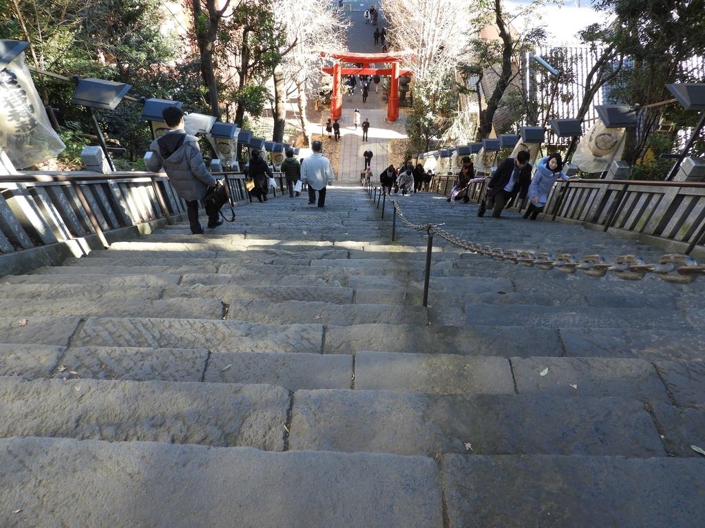 上から見た出世の石段