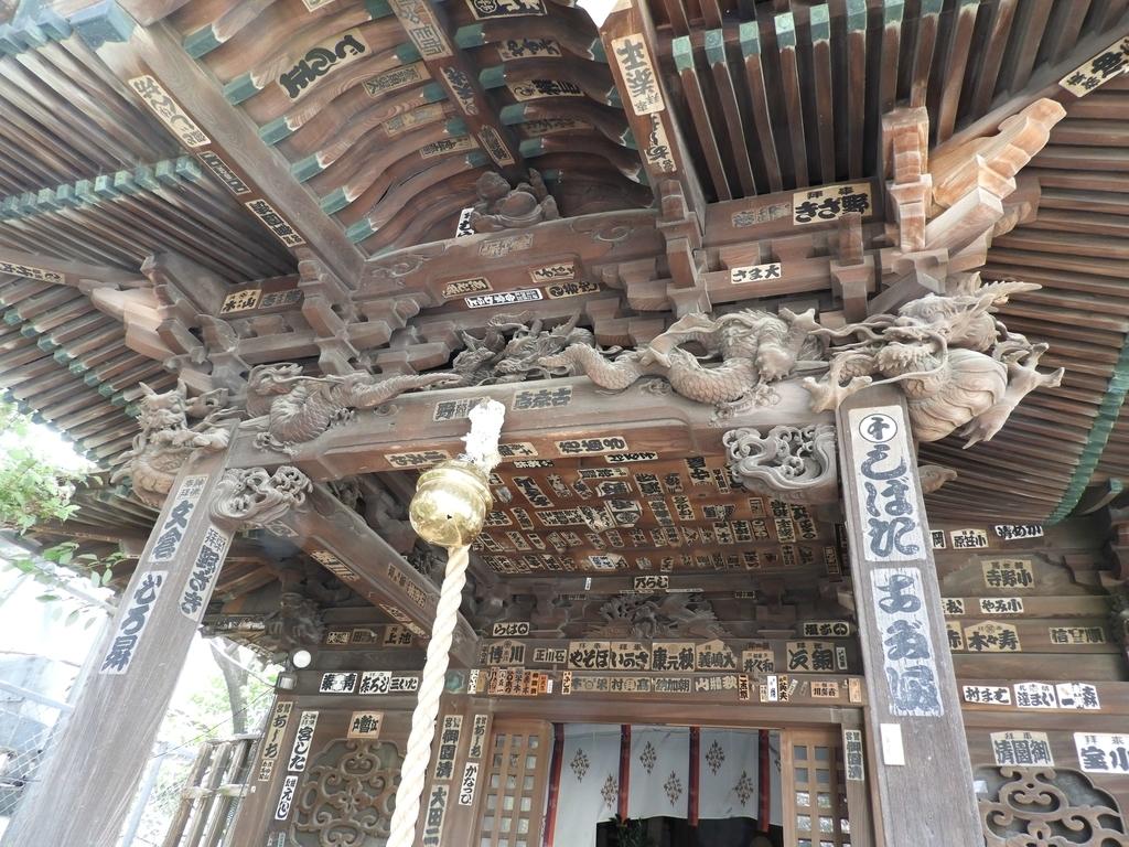 旧社殿の彫刻