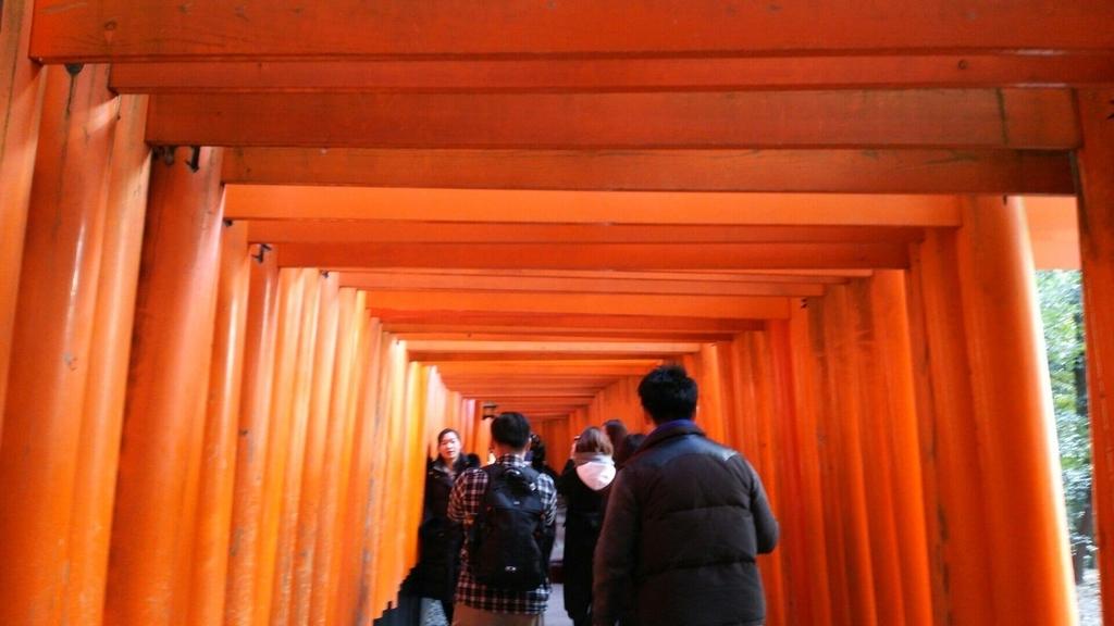 千本鳥居の内部の写真