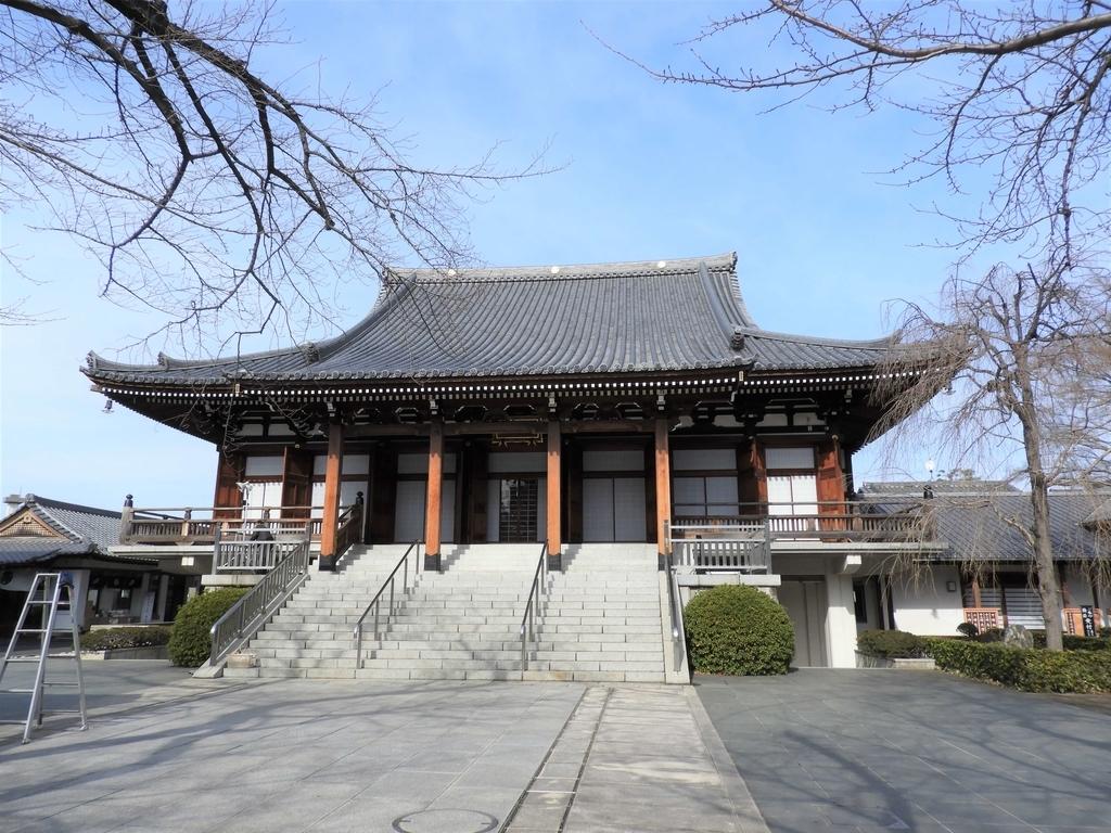 昭和63年に立てられた本堂の正面