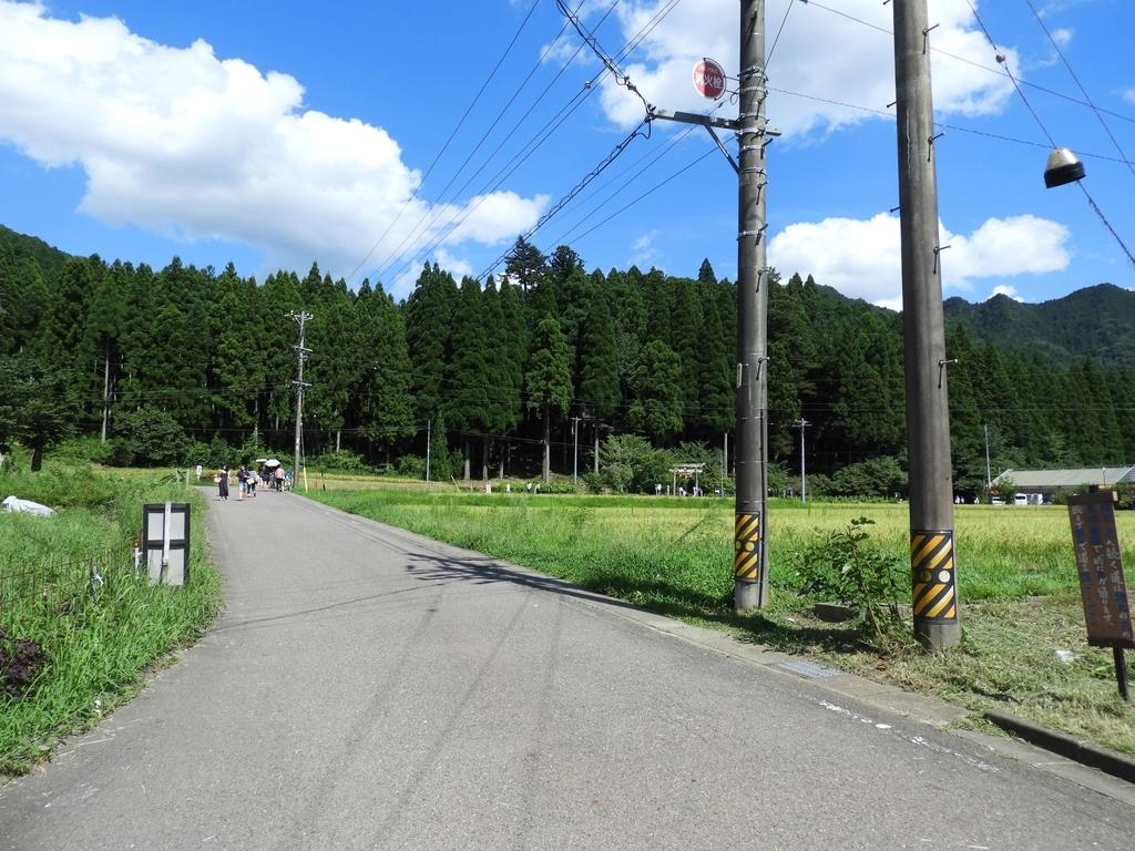 田んぼの間の道