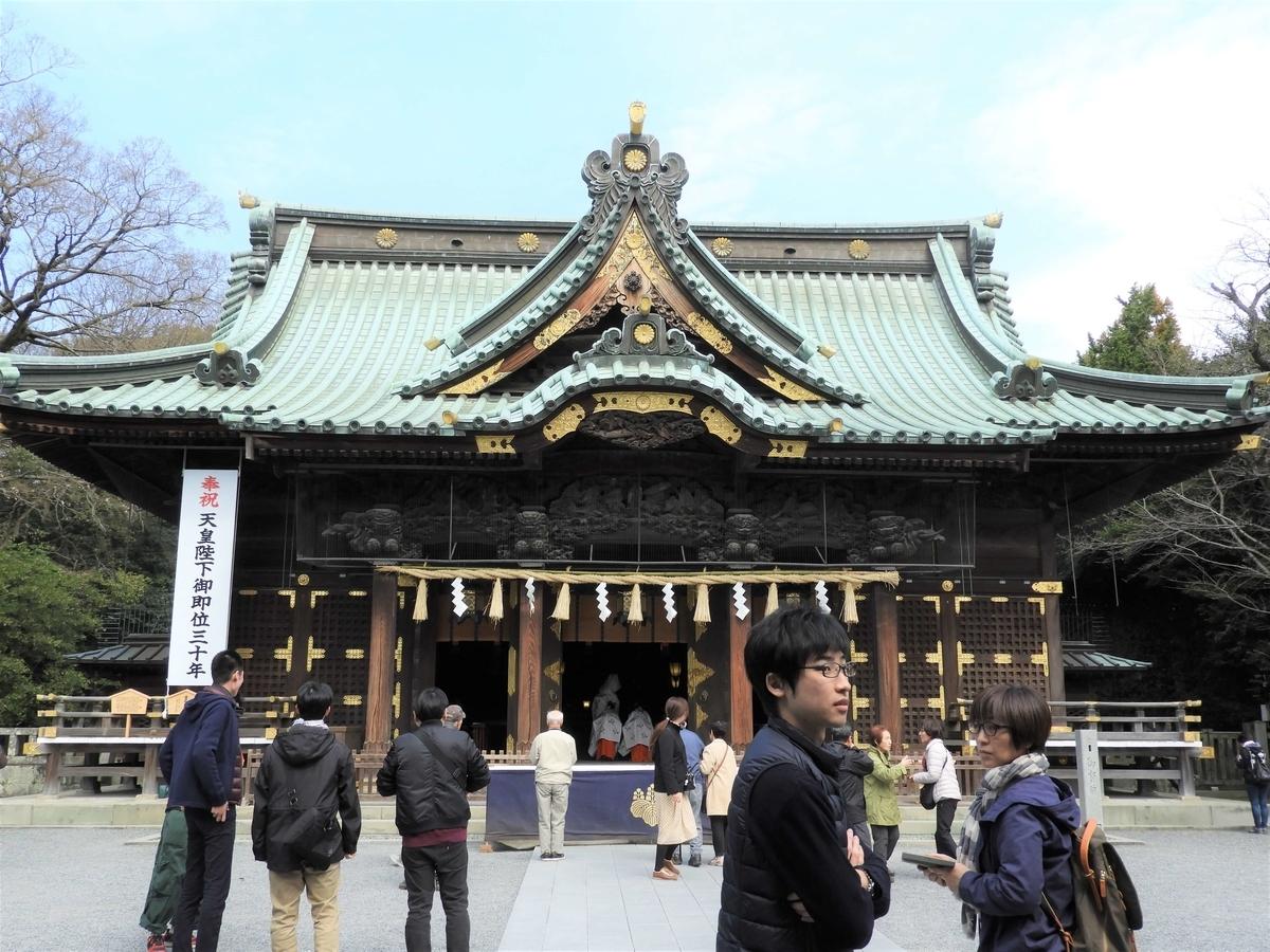 三嶋大社の総欅造りの社殿