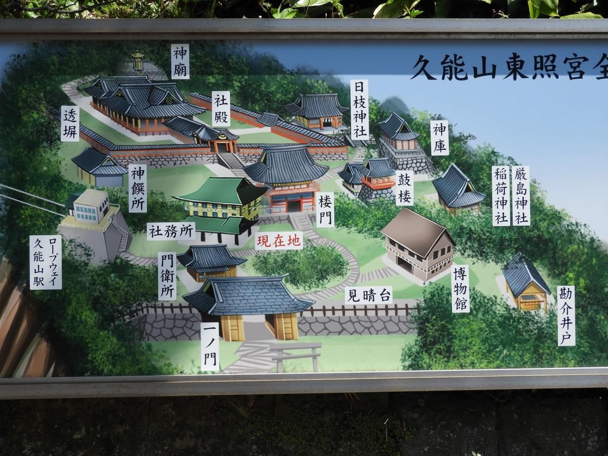 久能山東照宮の境内案内図