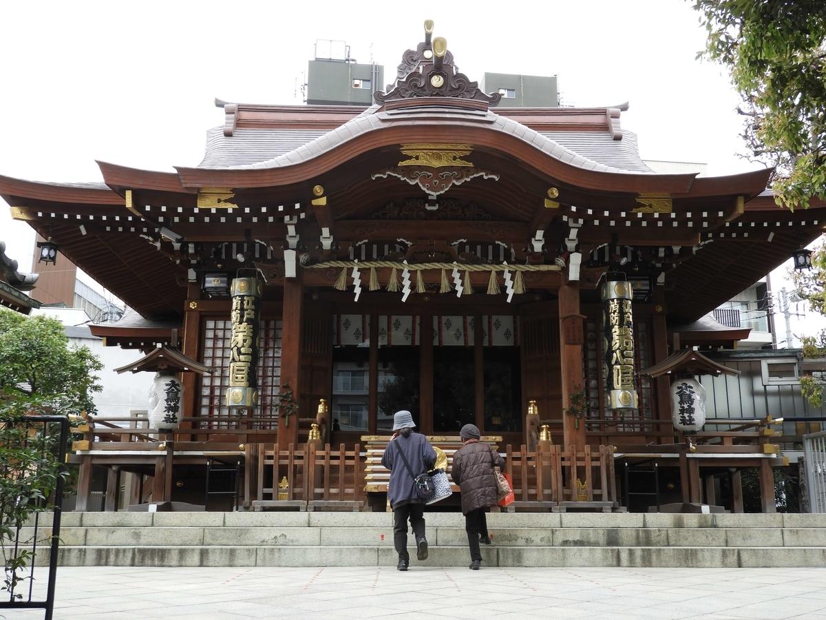 大鳥神社の拝殿