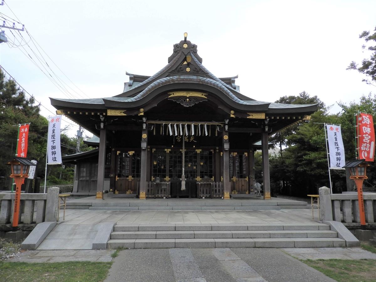 久里浜天神社の拝殿