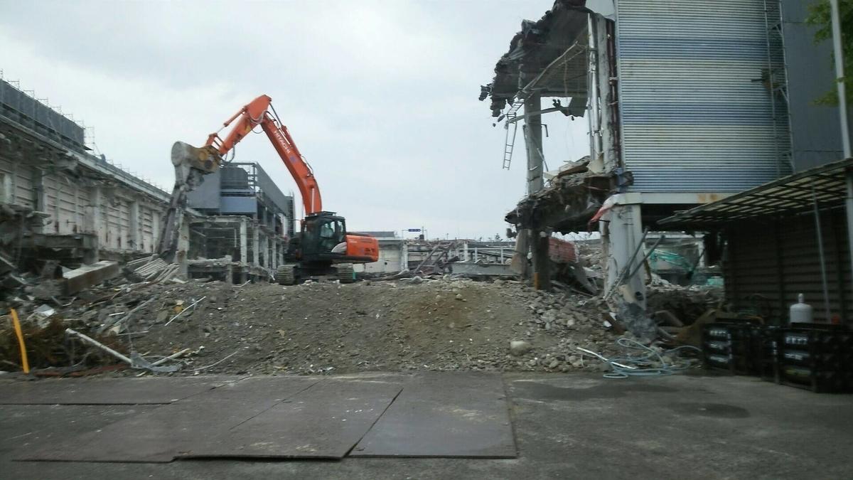 ケーズデンキ解体工事