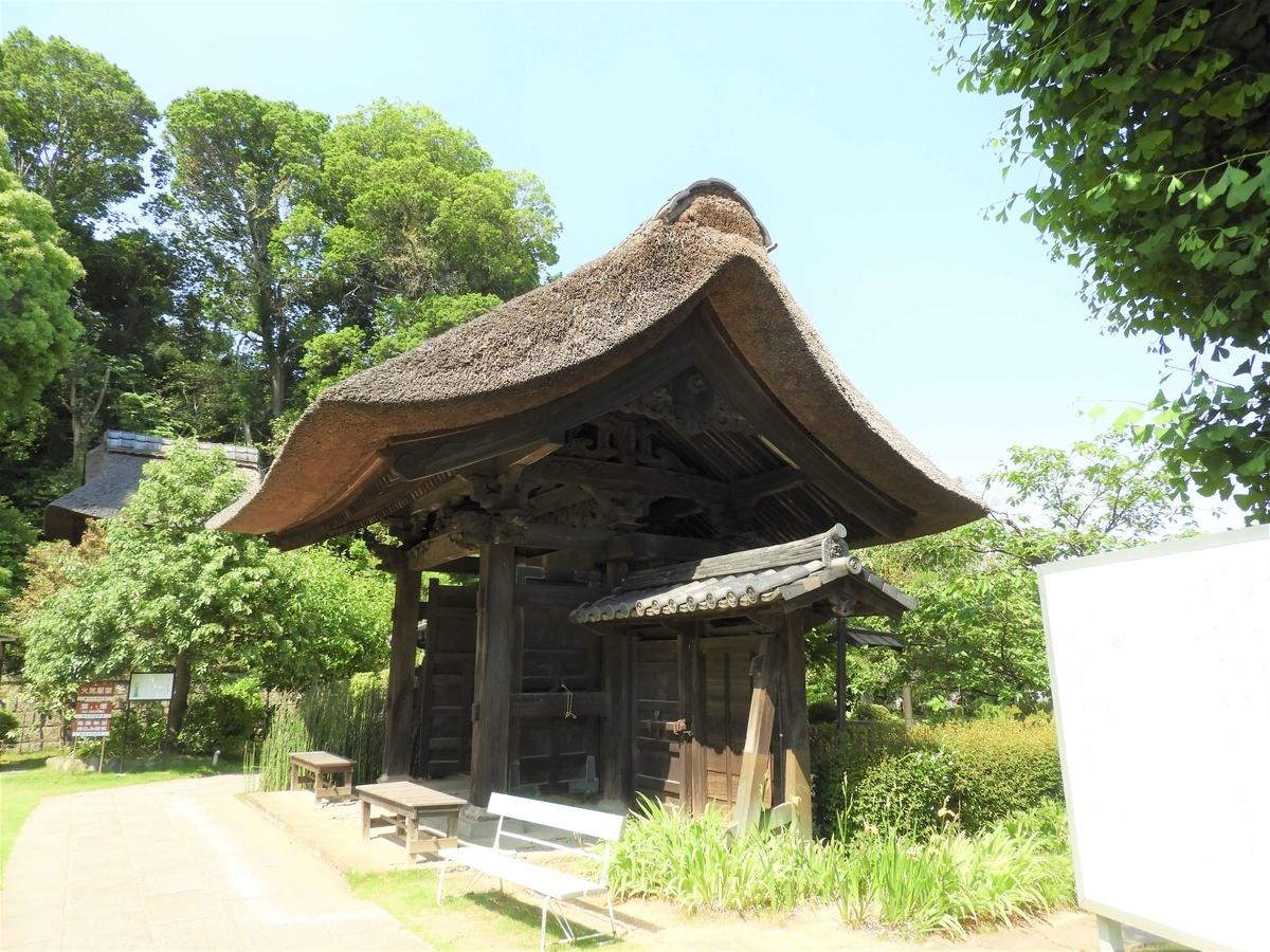 西方寺の四本脚の山門
