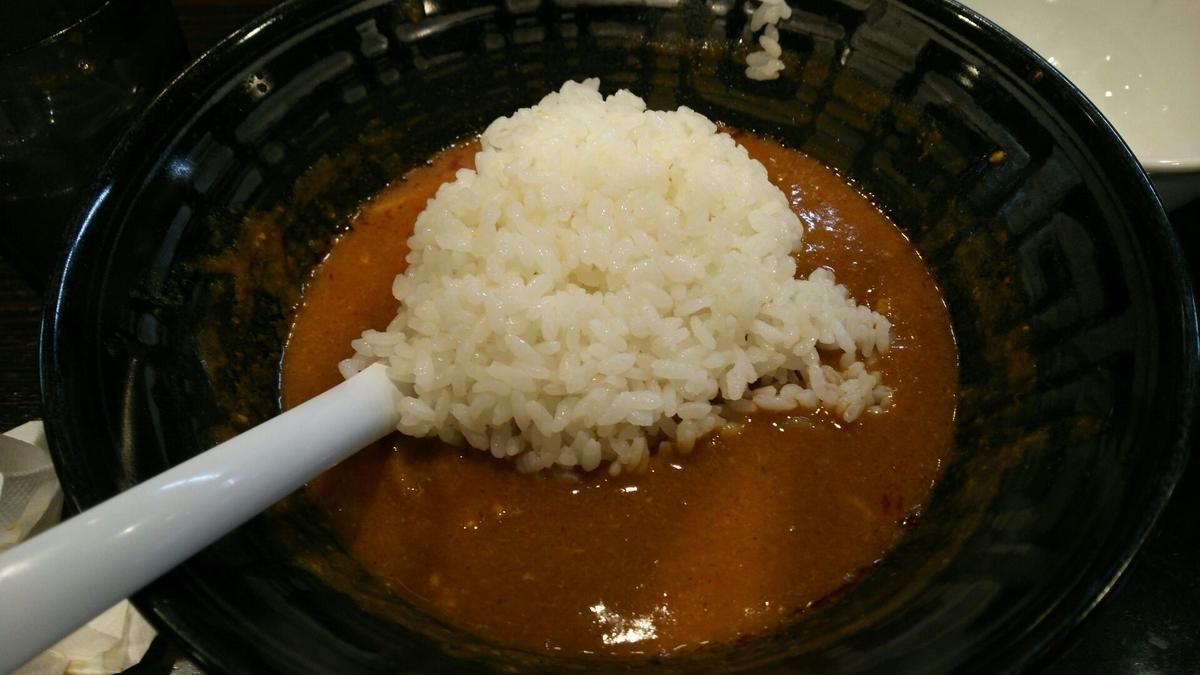 スープにご飯を投入