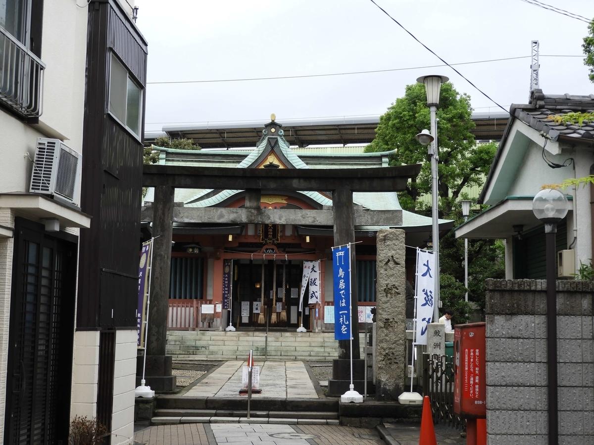 鮫洲八幡神社の社殿