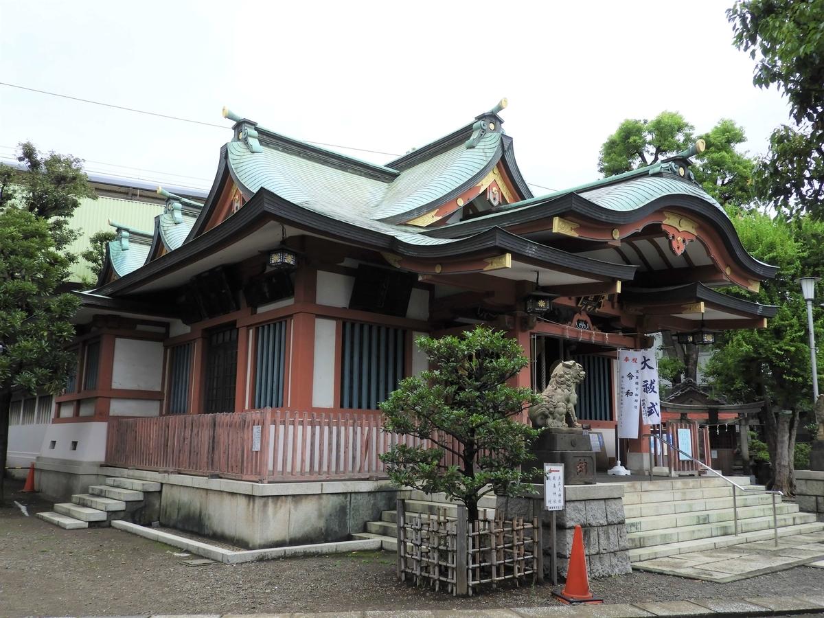 鮫洲八幡神社の現在の社殿