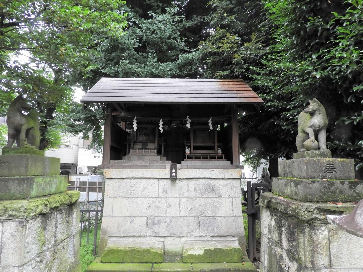 末社の稲荷神社・三峯神社・子の権現
