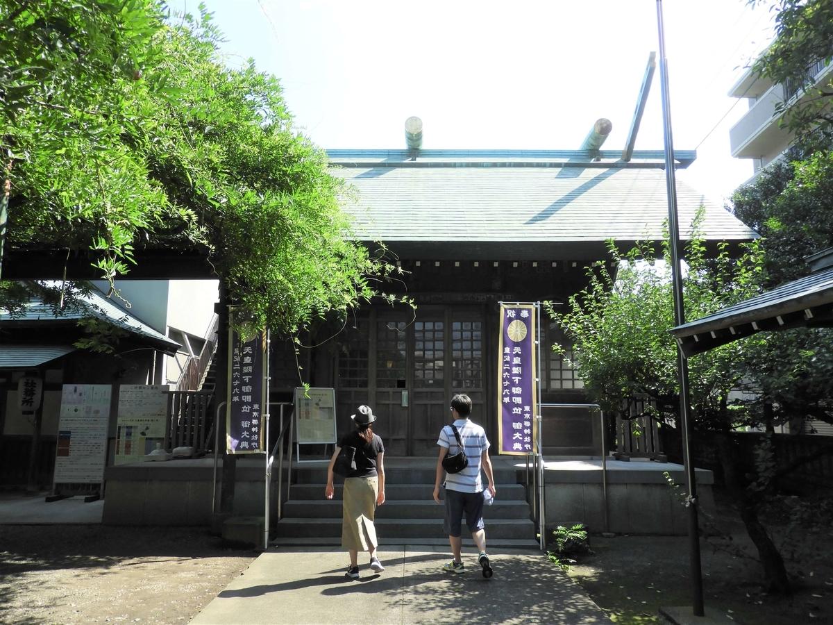 國領神社の拝殿