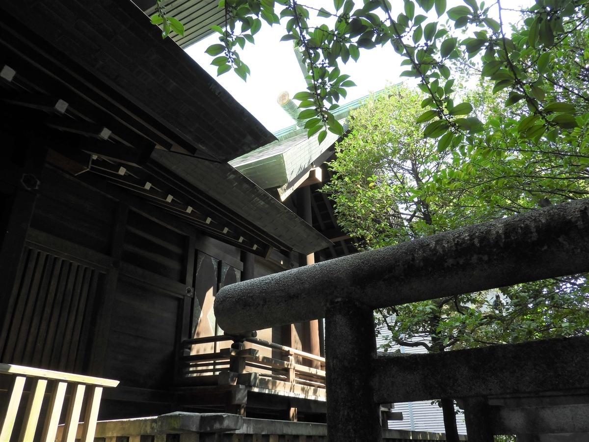 國領神社の本殿