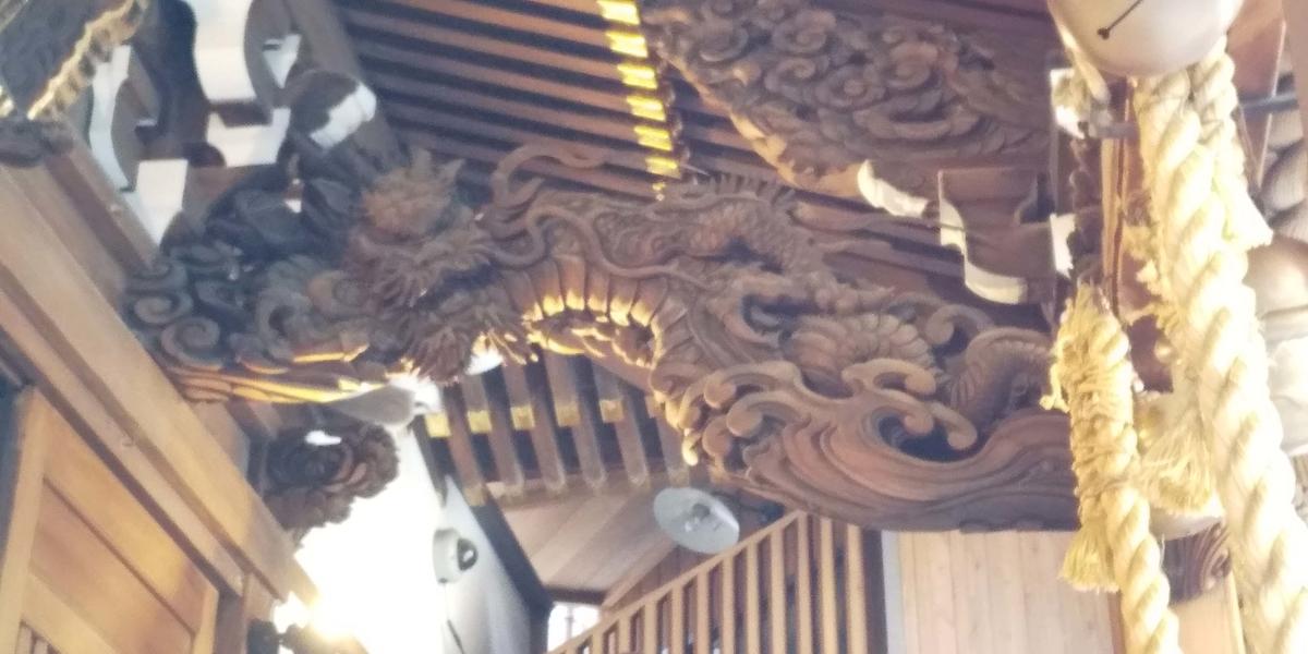 昇り龍の彫刻