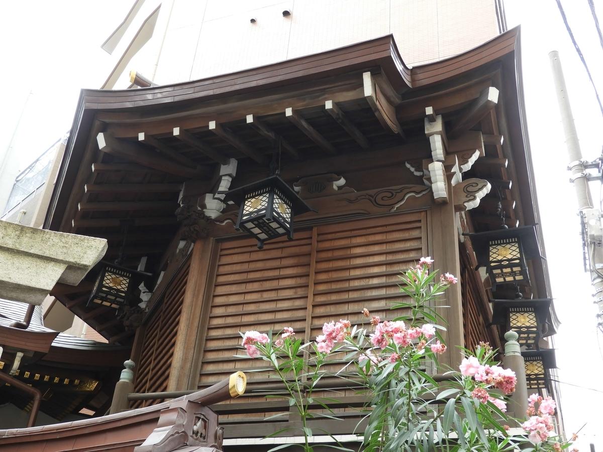 小網神社の神楽殿