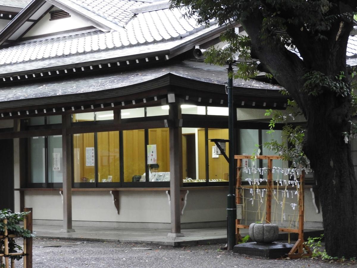 王子神社の御朱印所である社殿向かって右側の社務所