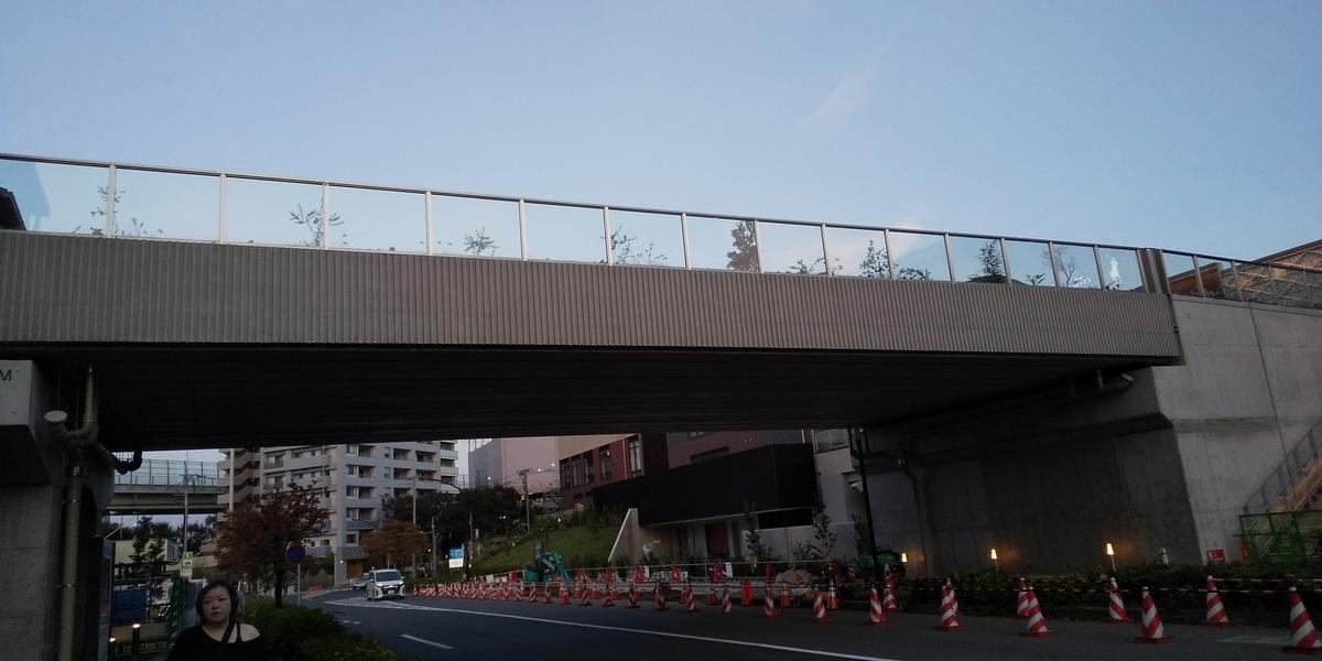 歩道橋の植物