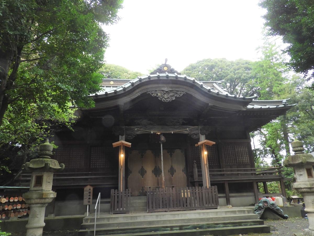 大稲荷神社の拝殿