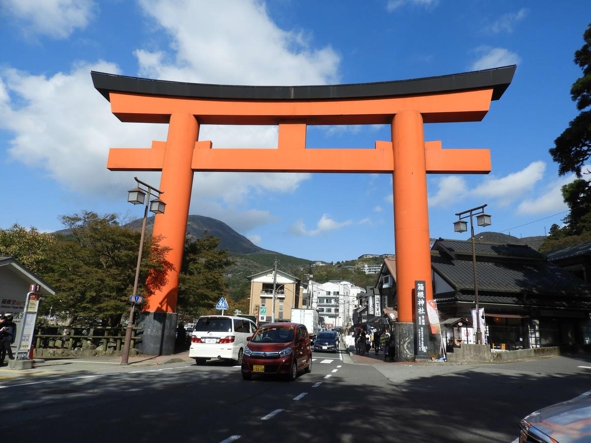 元箱根の入り口に建てられた第一鳥居