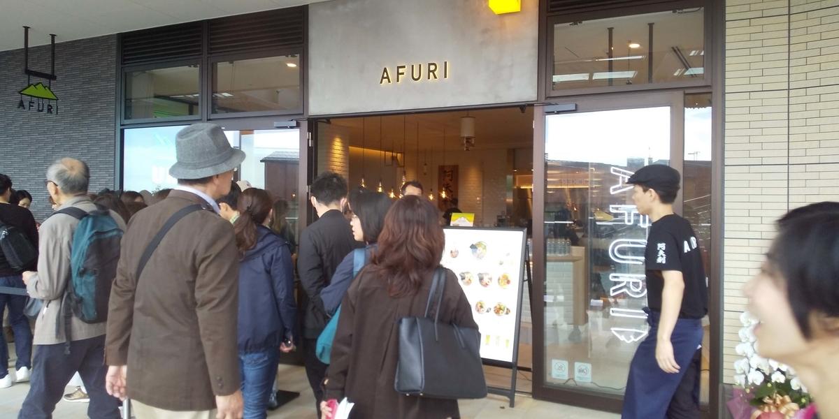 AFURIの行列